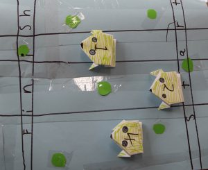 Origami frog game